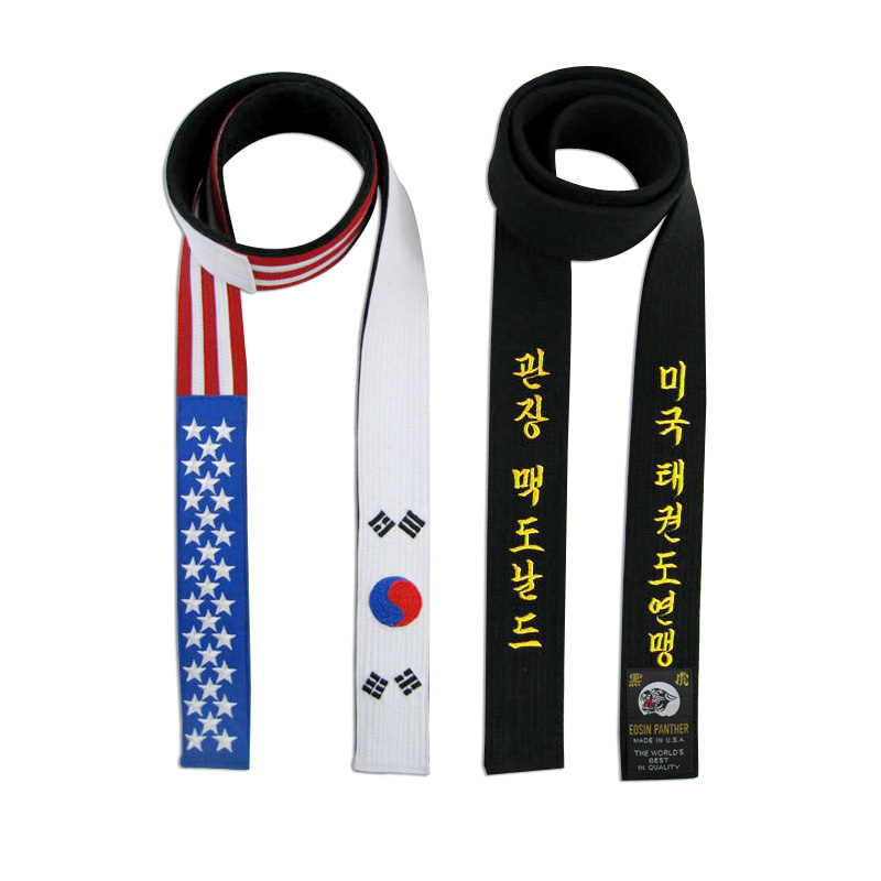 USA and Korean Flag Belt