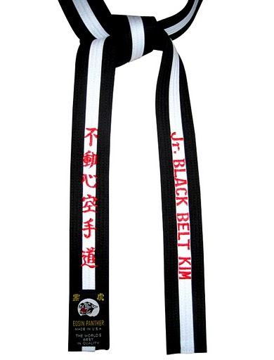 Jr black belt taekwondo