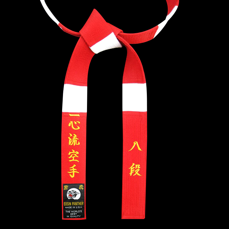 Special Red & White Panel belt with Matching Color Stitching
