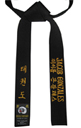 Three-Line Embroidery Black Belt