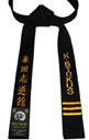 Black Belt with Vertical Embroidery