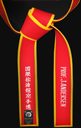 Special Red Master Belt with Gold Border