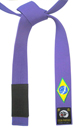 Purple Brazilian Flag Belt