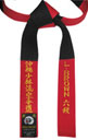 Red & Black Master Panel Belt with MATCHING Color Stitching