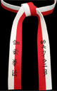 Red & White Renshi Belt