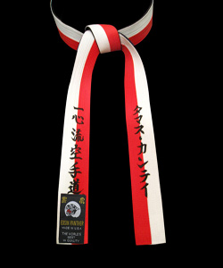 2 inch double wrap custom embroidered black belt NO RANK