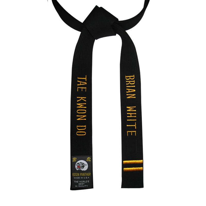 Special Construction Two-Sided Embroidery Black Belt