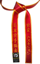 Deluxe Satin Red Belt with Gold Border
