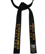Four-Line Embroidery Black Belt