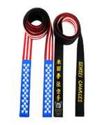 USA Flag Belt with Embroidery on Back