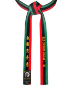 African Flag Belt with Solid Black Backside